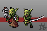 Fantasy pixel art Goblin Sandaliers special units by RGBfumes