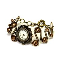 Steampunk victorian watch bracelet by CatherinetteRings