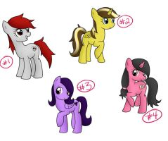 MLP Adopts - Set 2 - CLOSED by BenAdoptables