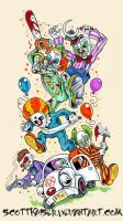 Clown Carnage by scottkaiser