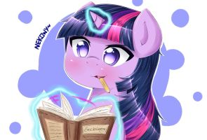 MLP - Studying! - Twilight Sparkle by Nekowy