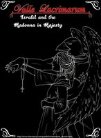 Israfel and the Madonna in Majesty (chapter cover) by Michelangeline