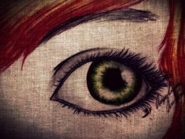 Green eye by Animewassup2011