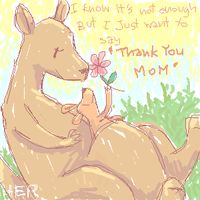 thank you, Mom by herhuahed