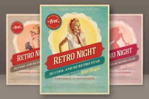 Retro Night Flyer by hugoo13