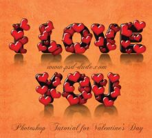 Love Text Effect for Valentine Day by PsdDude