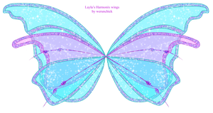 Layla's Harmonix wings by werunchick