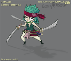 Female Zoro Roronoa Concept Art by ShadowNami92