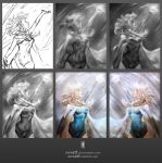 Let It Go -process- by zwxART