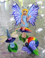 Gnome fairy girl by HollieBollie