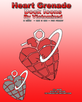 Heart Grenade Dock Icons by Victomized