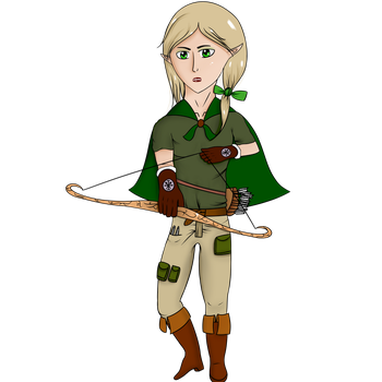 Elven Archer by CountHaku