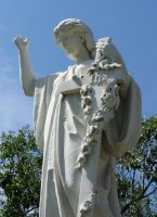 Mount Olivet Cemetery Woman 148 by Falln-Stock