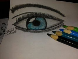 My first colored Eye :D by OreoQueen01
