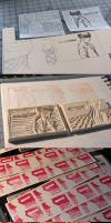 Block printed business card by koyar