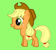 MLP:FiM Baby Applejack by AnimePrincess99