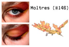 Pokemakeup 146 Moltres by nazzara