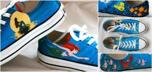 Under the Sea Painted Shoes by Swirledheart