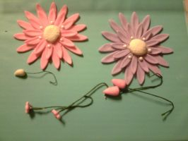 Gerber Daisies and flowers/bases by Alielove19