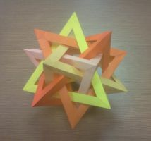 Five intresecting tetrahedra by MasonAndAGhast