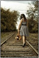 Train Tracks and Teddy Bears by Photopersuasion