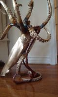 'LEGEND' giant squid table base and sculpture by bronze4u