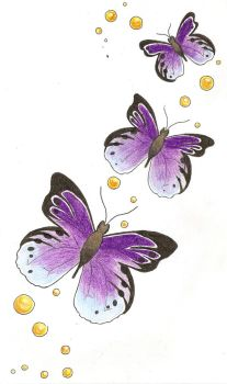butterfly trail tattoo design by finishstrong