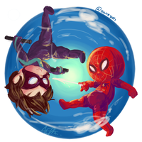 Nightwing and Spidey by wishfulthinker014