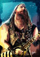 Zakk Wylde caricature by jupa1128