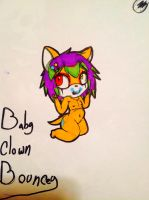 Baby clown bouncey by evil-vivianne