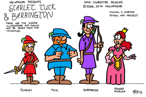 Scarlet, Tuck and Barrington (2006) by VGRetro