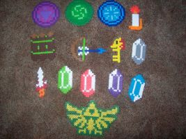 Zelda items perler by slygirl1999