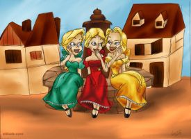 The Bimbettes (color) by vanillacoke-disney