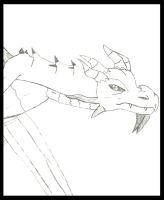 Odahviing Sketch/Practice: TES Dragon by animedugan