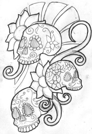 Arada's tattoo is based on the art of the Mexican holiday,