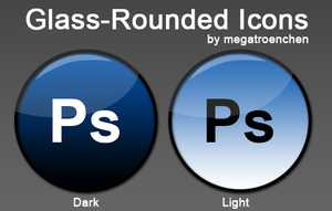 [Preview] Glass-Rounded Icons by Megatroenchen