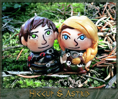 Hiccup + Astrid Clay Charms by Comsical