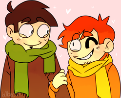 David and Troy by smeefus-corn