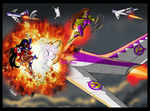 Purple Vixen v Freedom by johnnyharadrim