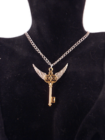 Winged Key necklace - Gold by twin-blades