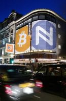 Bitcoin  Namecoin Night Square by Namecoin