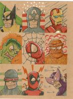 Marvel a la Cardboard by johnnyism