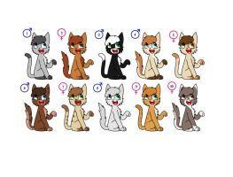 LOL Cats (Adopts) by BlizzardIceFox