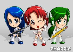 Choppic Girls - Chibi Style by Choppic