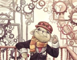 Steam Punk Cat by ArtistsBlood