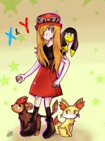 Pokemon X and Y trainer by Shad-the-cat