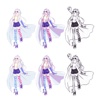Ghost girl OC refsheet by ametotaiyou