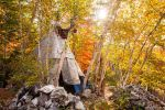 Tipi in the Woods by JamesHackland