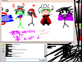 iScribble doodle Ft Derp Flint by Paranormalmoon