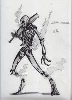 Wither Skeleton Sketch by CriticalRobotBoy